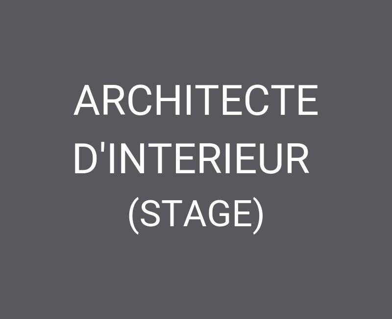 architecte stage
